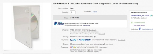 100 Premium Standard Solid White Color Single DVD Cases Professional Use   eBay